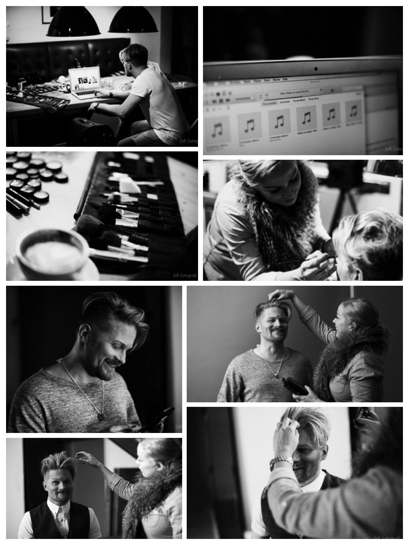 Milla Stenman hoiti ammattitaidolla Mikan meikin ja hiukset promokuvauksiin Felt Fotografin studiolla. Kuten kuvista näkyy, tiimi toimi ja kuvauksissa oli hauskaa ihan oikeastikin.