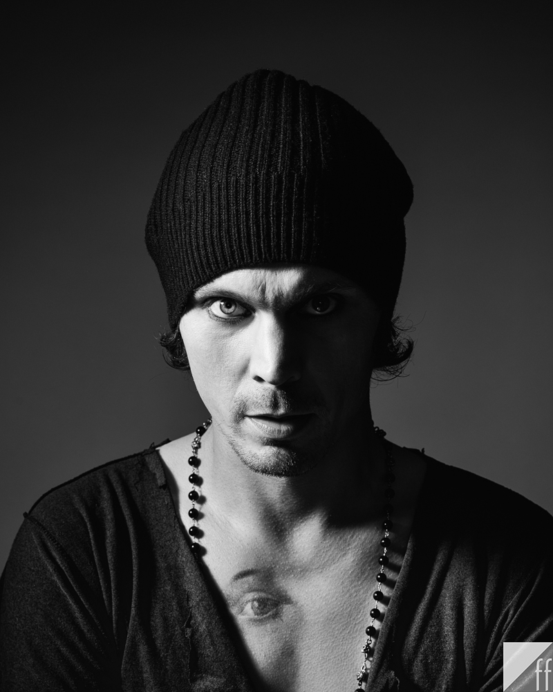 Ville Valo photographed at Felt Fotografi studio in Helsinki in July 2015 by Lari Järnefelt