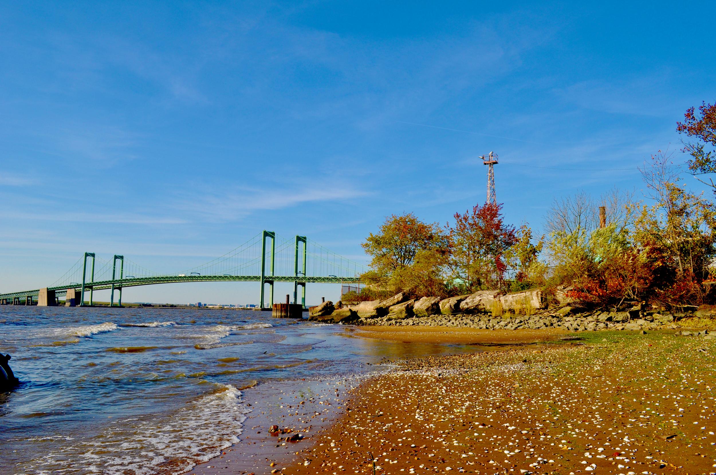 Delaware Memorial Bridge connecting New Jersey & Delaware