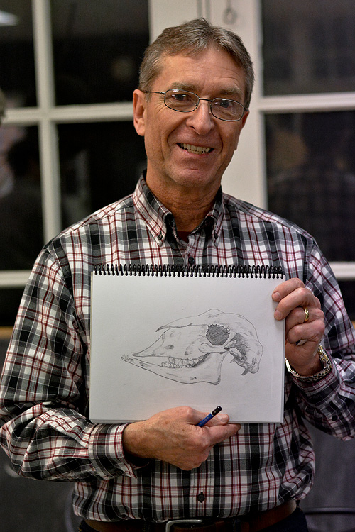 Ron and his excellent skull drawing