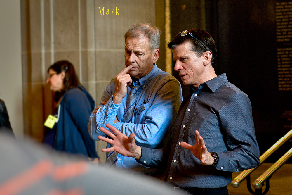 Mark in discussion with FLAP Director, Michael Mesure.