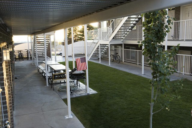 We offer two Courtyards for BBQ's, picnics and socializing.