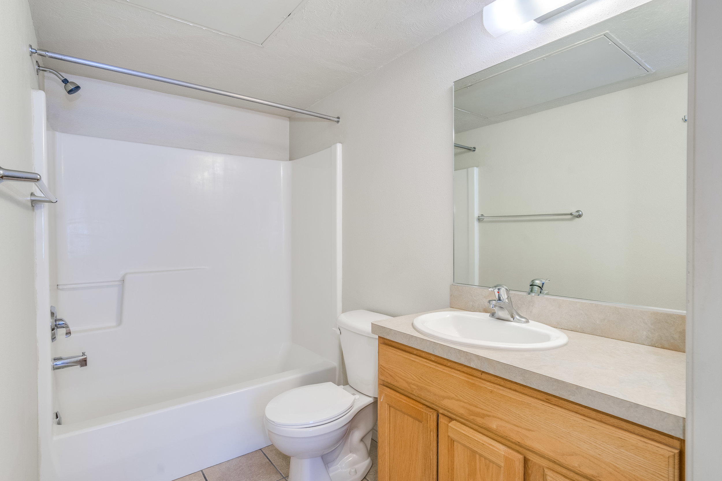 Bathroom with Shower/Tub off of bedroom. .