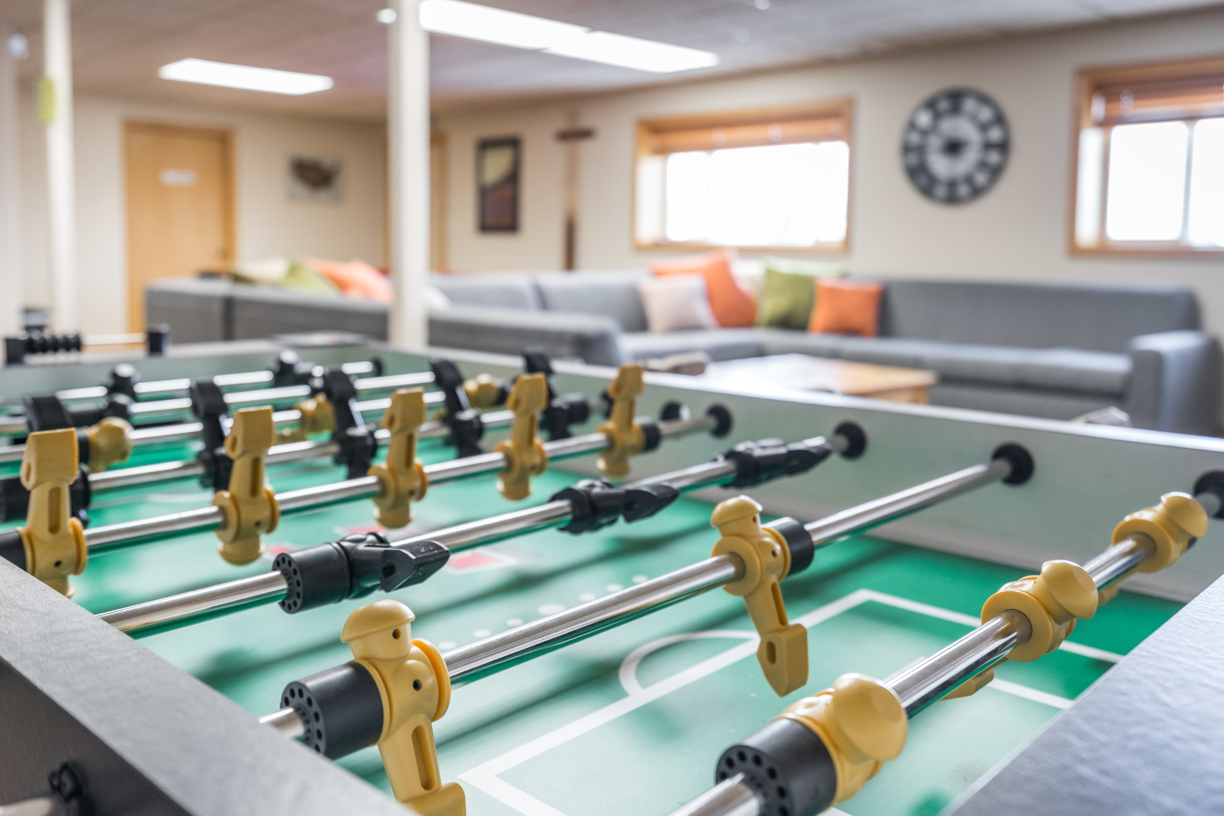 Maybe a competitive game of Foosball is more your style!