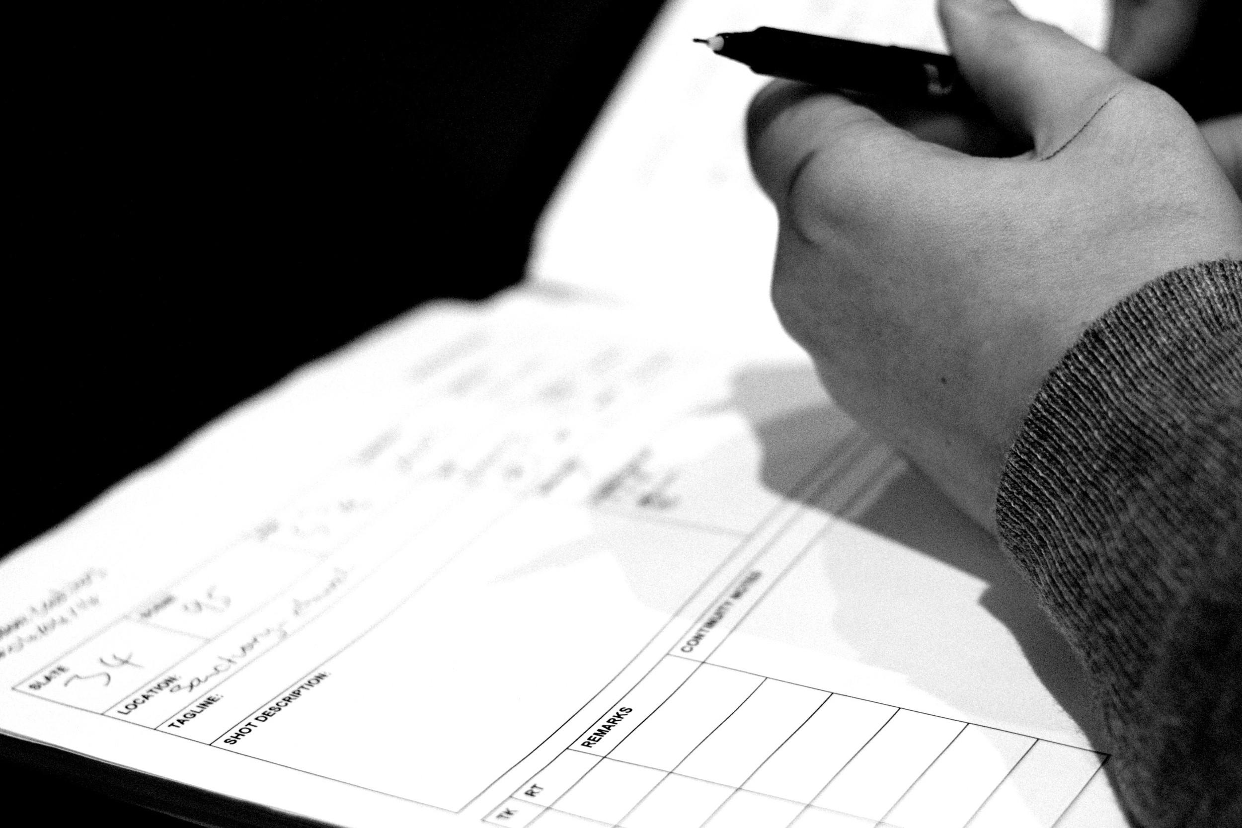 Copy of Creditors, Script Supervisor