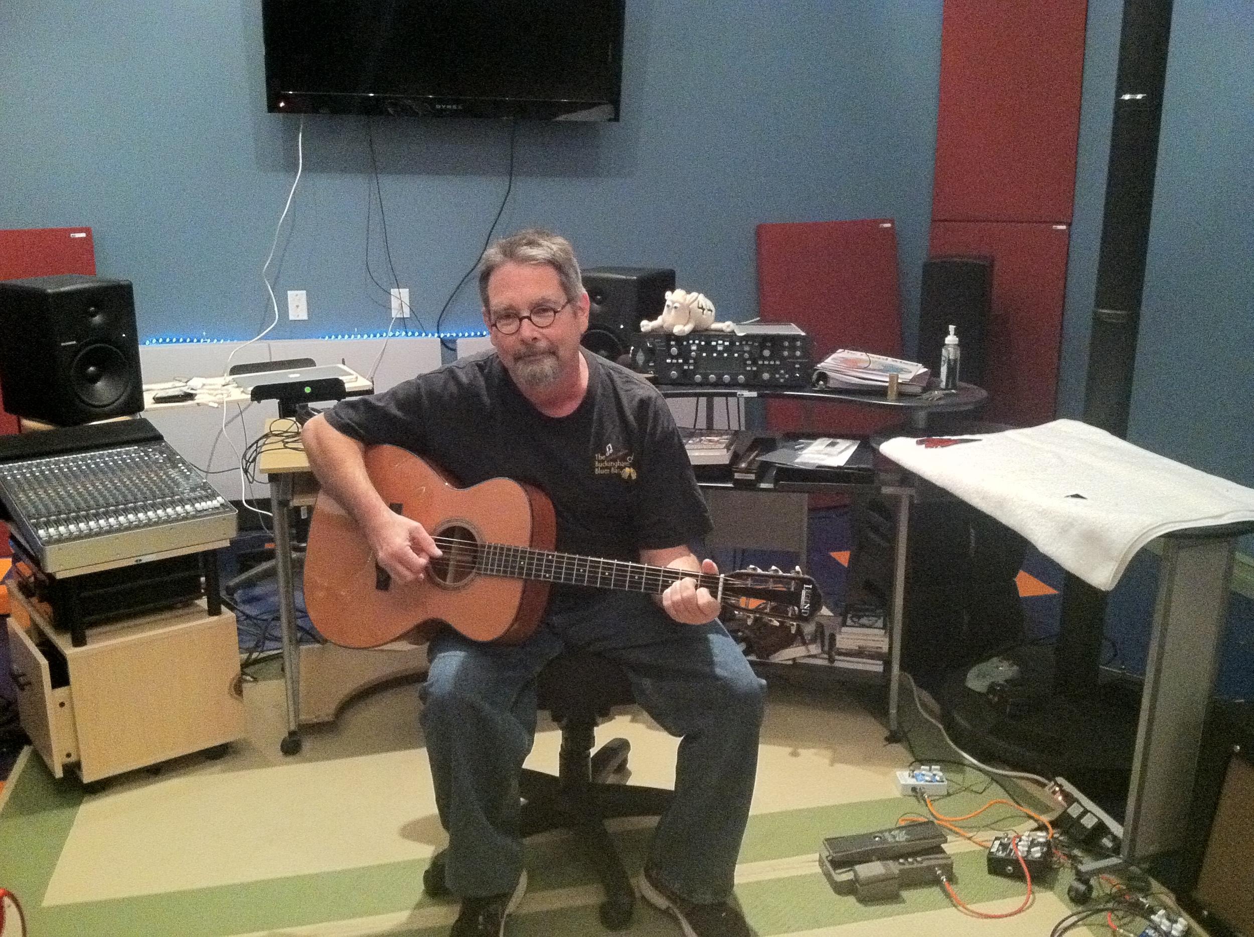 Teaching inside of the studio.
