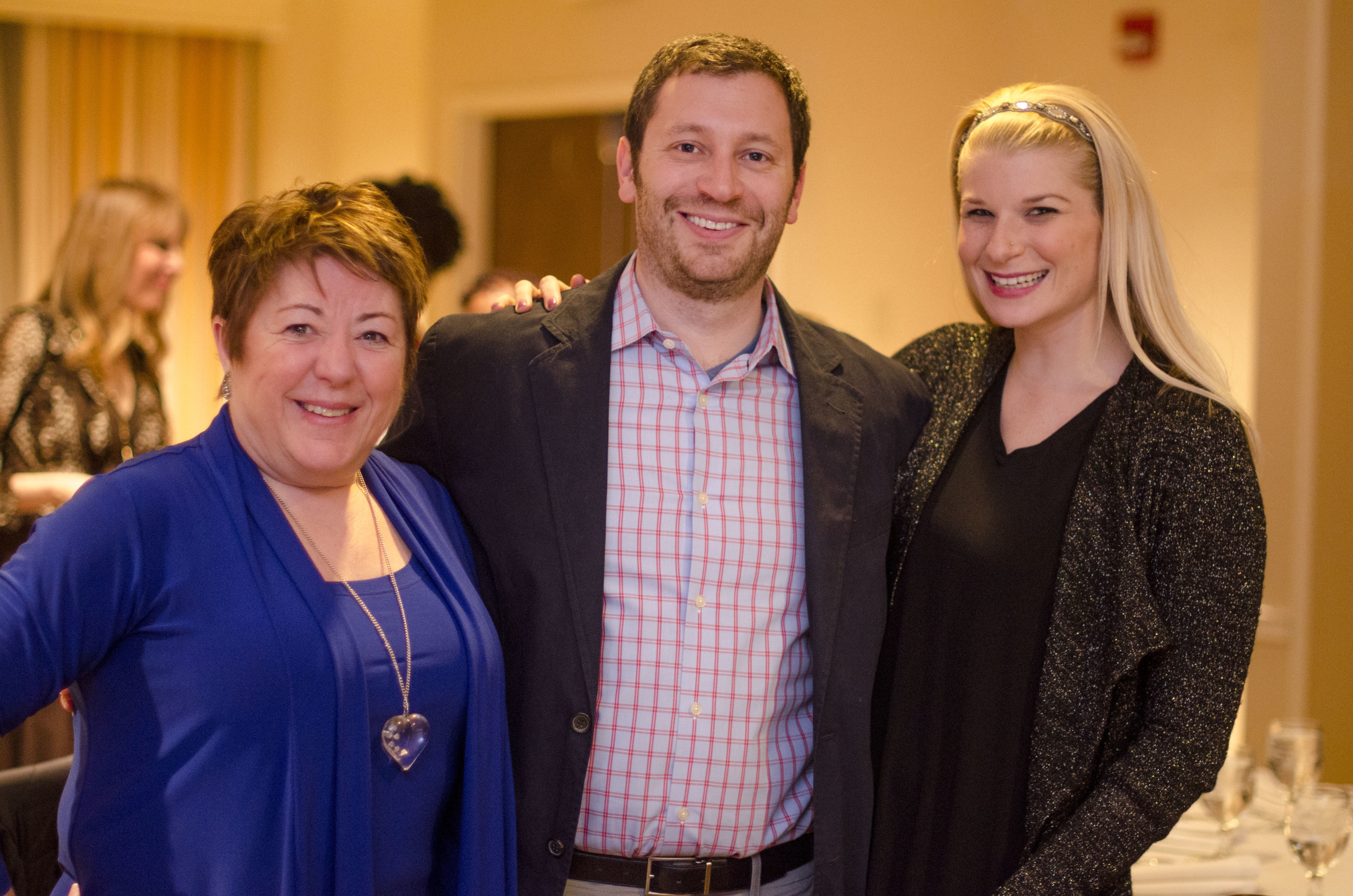 Three of Ruth's sponsors and colleagues - from L to R Pat Mussieux, Matthew Goldfarb, and Mara Glazer.