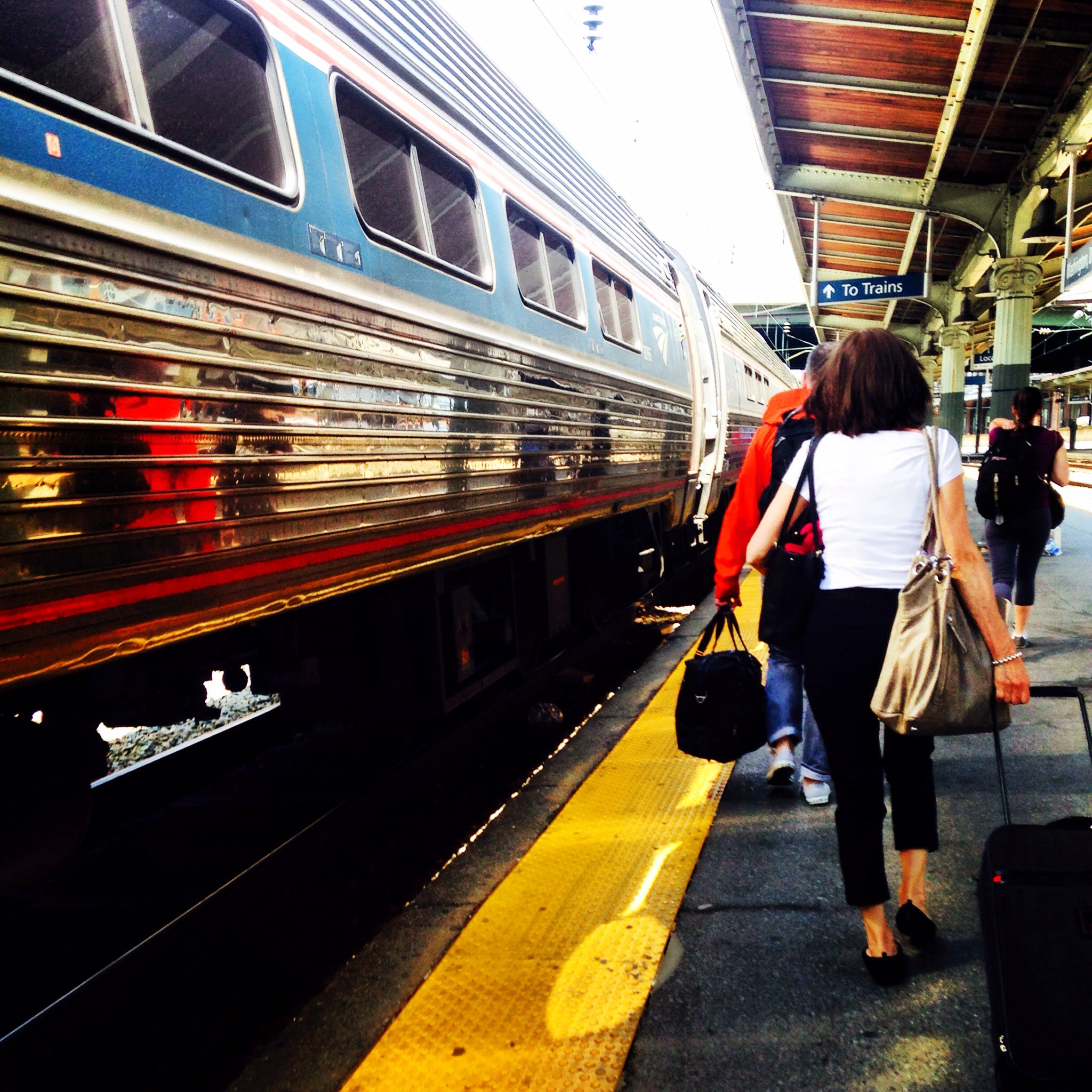 Catching the train to Baltimore, MD before heading out