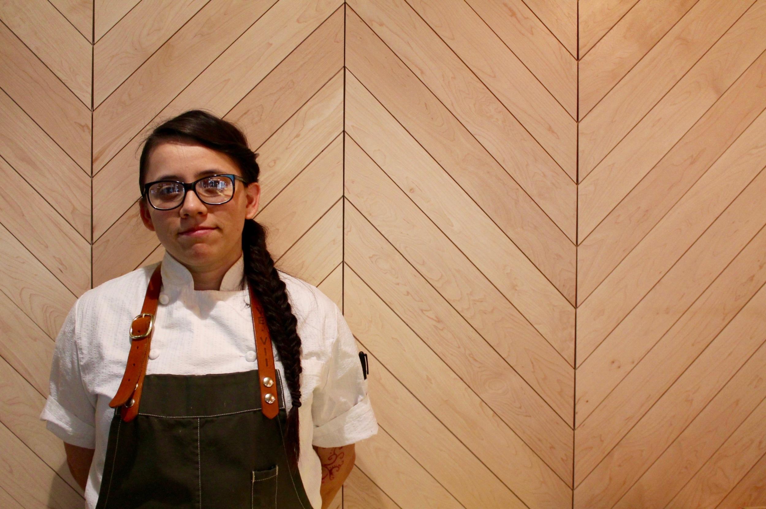 Daniela Herrera, pastry sous chef at COUNTER 3. FIVE. VII
