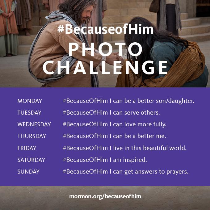 #BecauseofHim Day 1 Photo Challenge