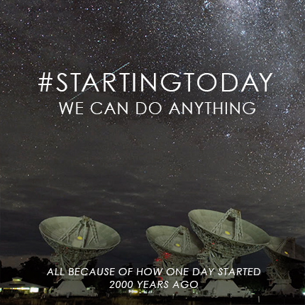 #StartingToday we can do anything