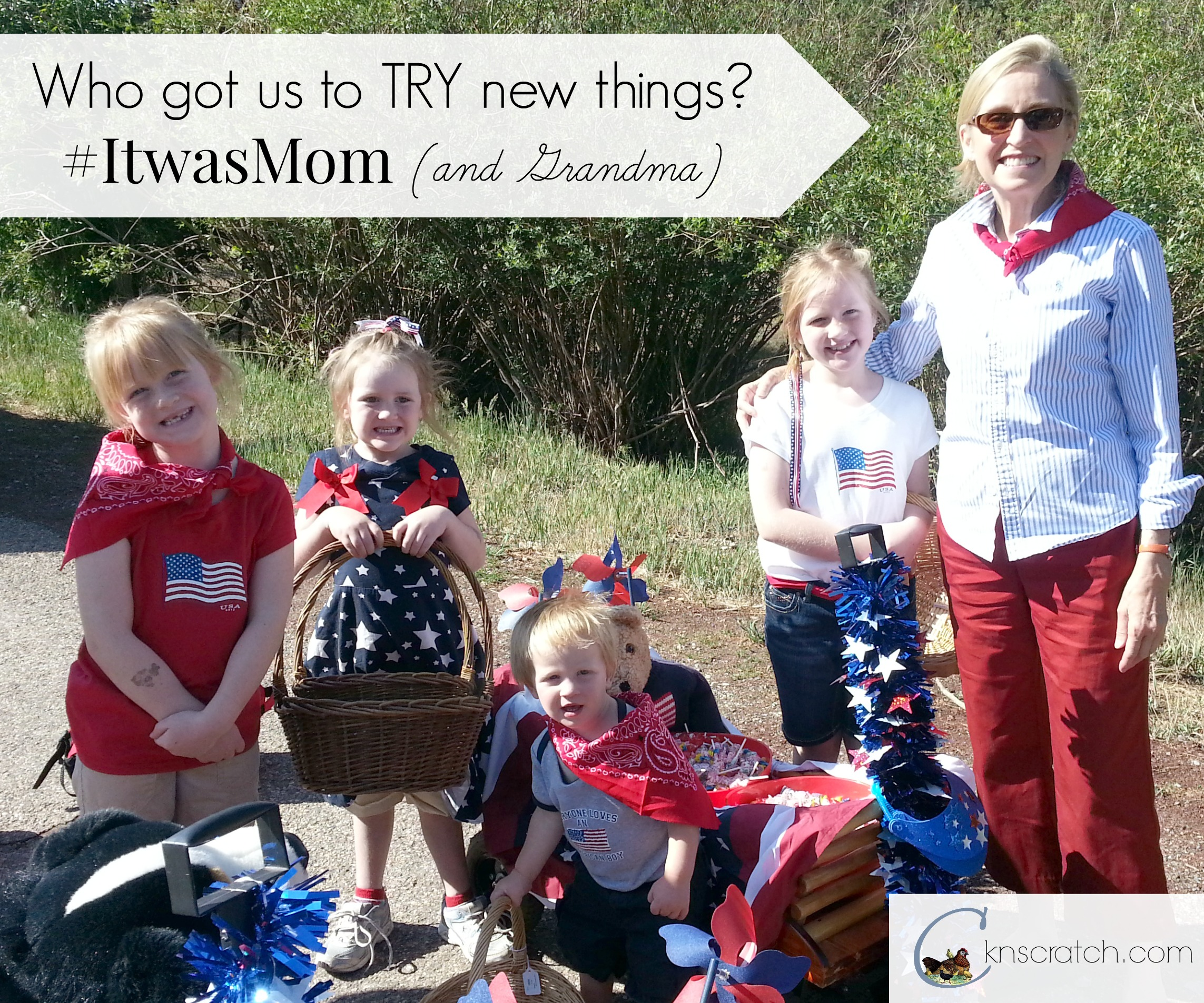 #ItwasMom who encouraged me to TRY new things.