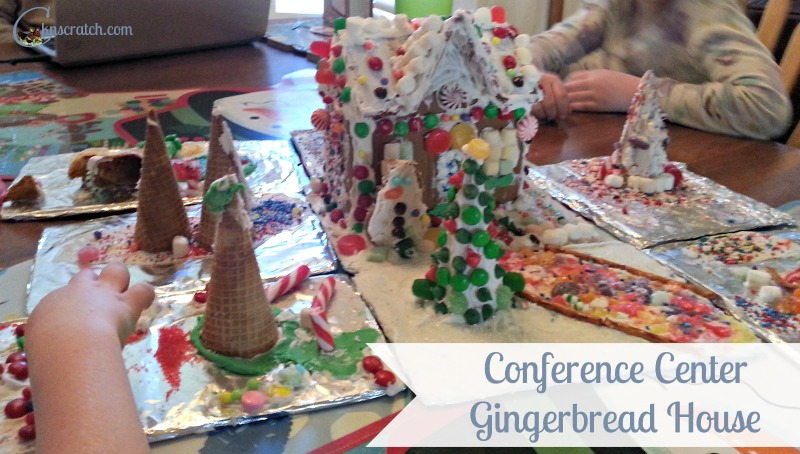 How neat is this?! Make a Conference Center Gingerbread House during General Conference