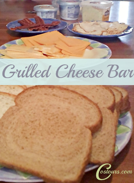 Love the idea of a Grilled Cheese Bar- gets people talking and trying new things and is super easy!