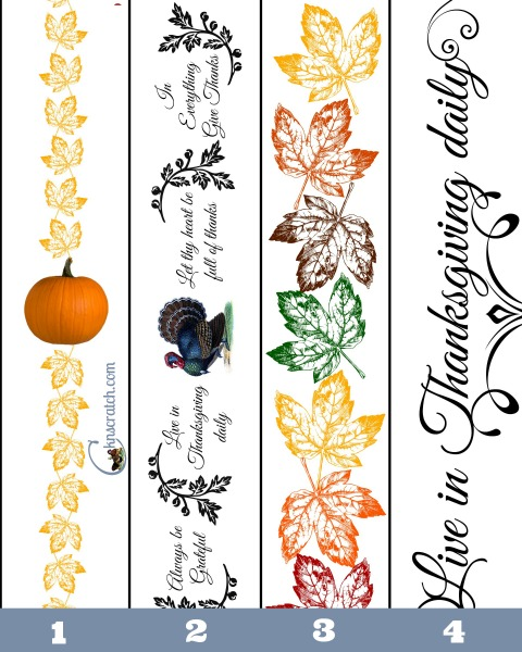 Free Thanksgiving Napkin Rings or use them in other Thanksgiving decorations!