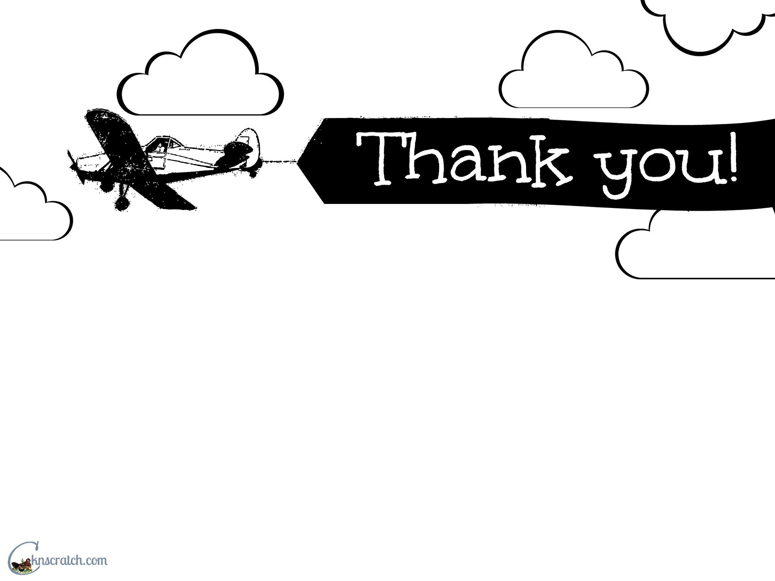 Great airplane thank you card