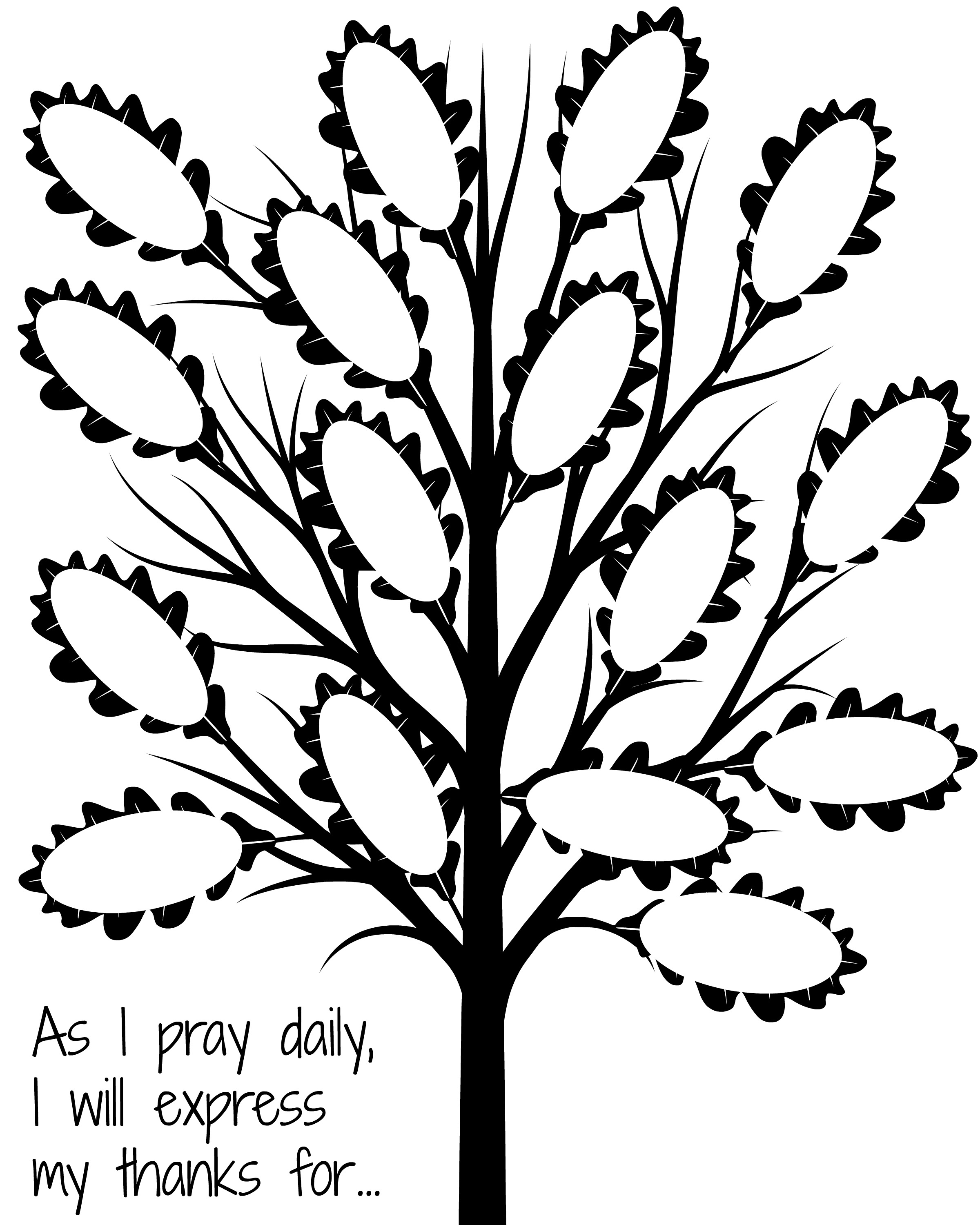 Love that this thankful tree is focus on giving thanks in your prayers!
