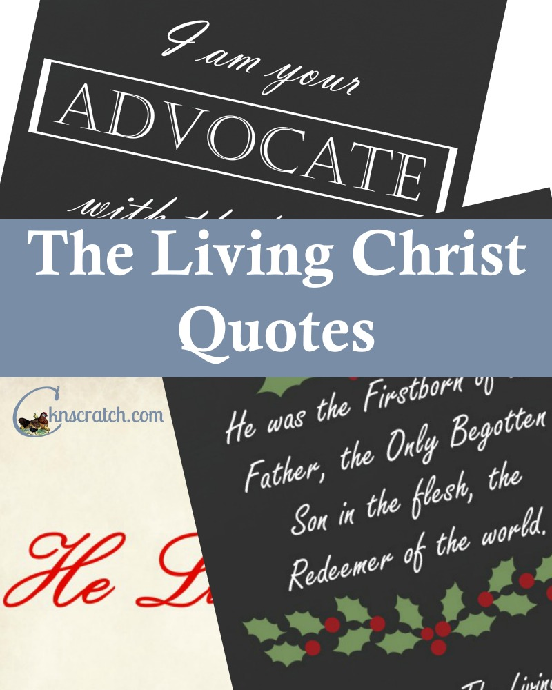 Love these simple quotes from the Living Christ!