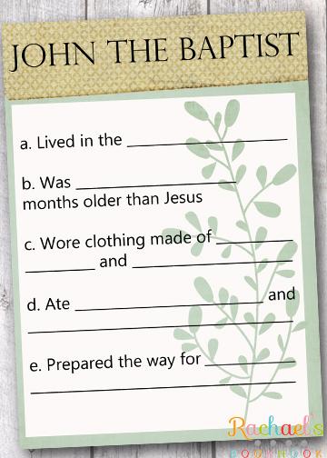 Primary handouts from Rachael's Booknook