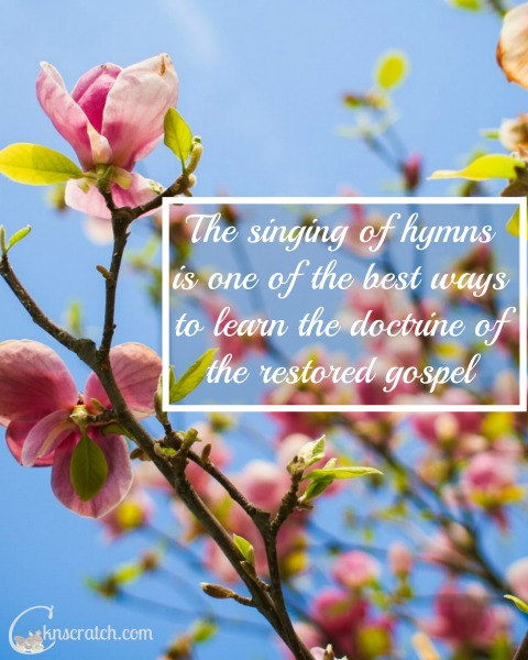 Love the idea of studying hymns for scripture study!