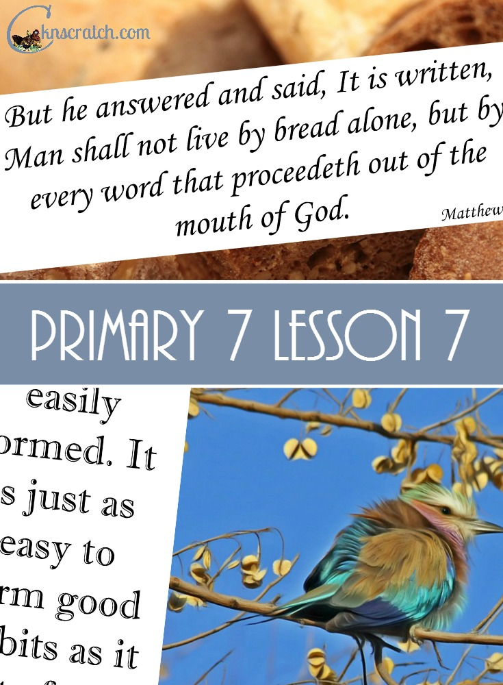 Great lesson helps for Primary 7 Lesson 7: Jesus Christ was Tempted by Satan