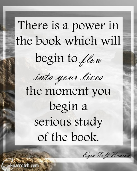 Great reminder of the power of the Book of Mormon- perfect to go with Ezra Taft Benson Chapter 10