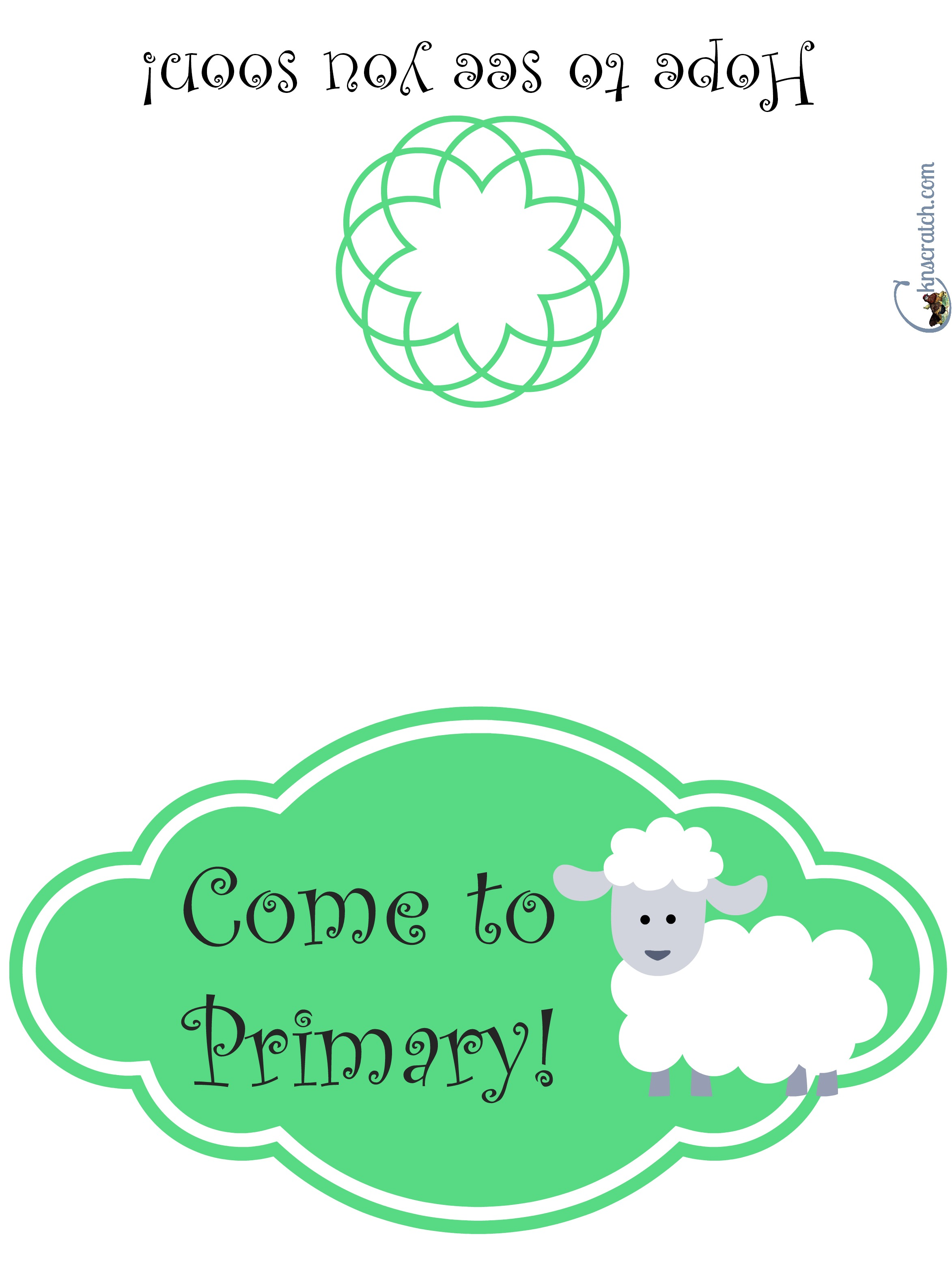 Invite someone to LDS primary with this cute card- get the whole class to sign it