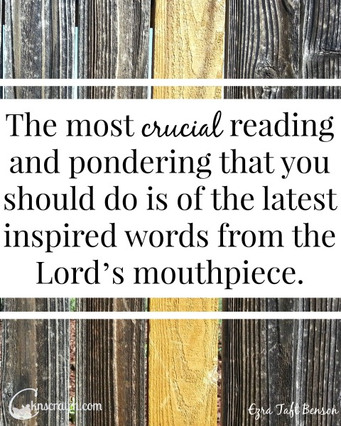 Do more than follow the prophet- study his words! LDS Lesson helps for Ezra Taft Benson Chapter 11: Follow the Living Prophet