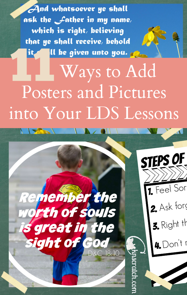 So many good ideas for LDS lesson- this will really help me keep my class's attention better!