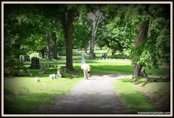 Visit a cemetery where your relatives are to start digging into family history