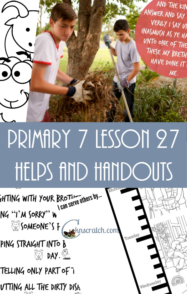 Such a great site! LDS lesson helps and handouts for Primary 7 Lesson 27