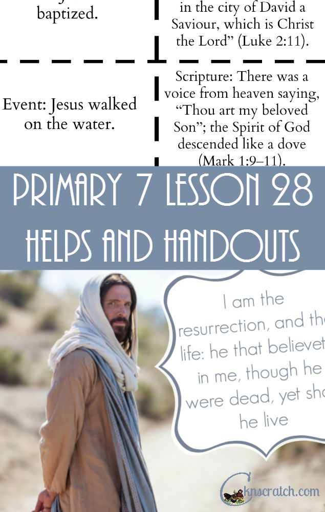 Great lesson helps for LDS Primary 7 Lesson 28!