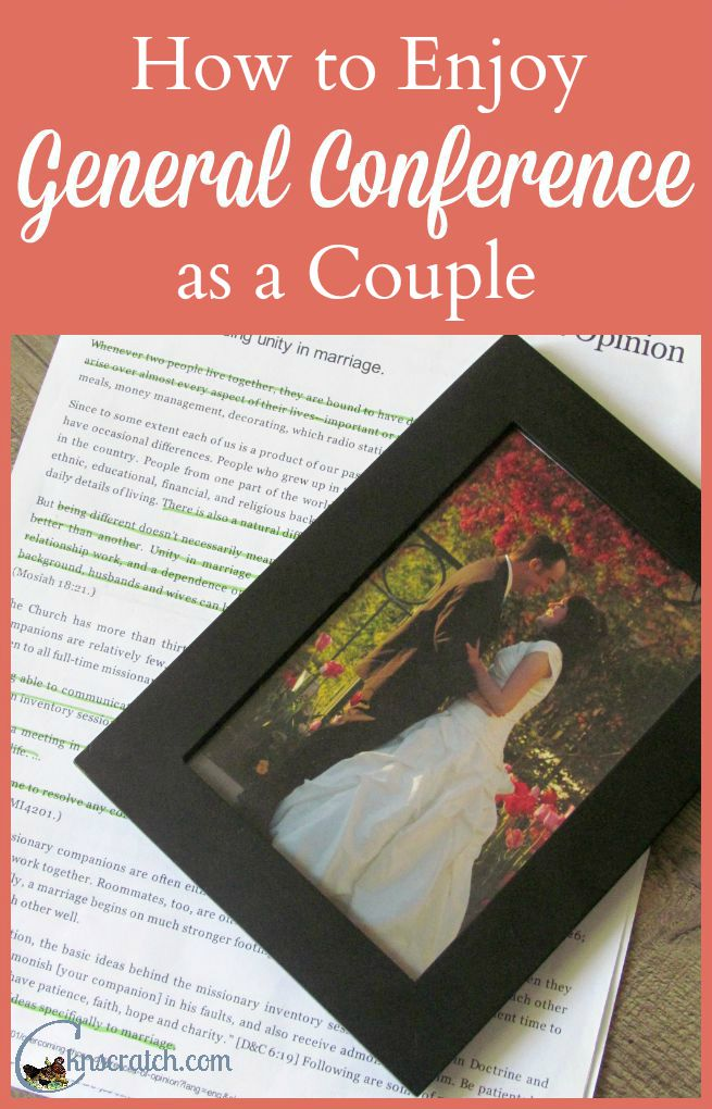 Such great ideas! I don't know why I didn't think of some of these before. Preparing, Watching, and Applying LDS General Conference as a couple and family.