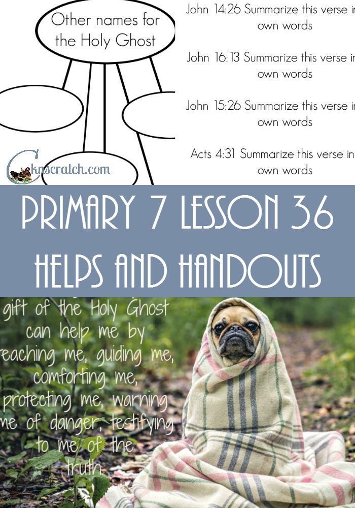 Great LDS handouts and helps for Primary 7 Lesson 36: The Day of Pentecost