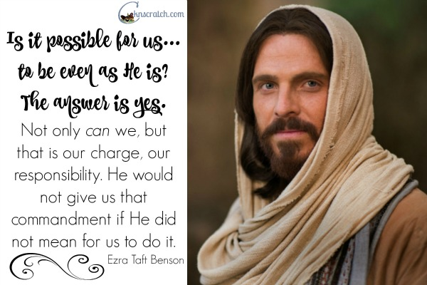 Love this quote to go with Ezra Taft Benson Chapter 24: A Christ-Centered Life. Check out her LDS study guide too- it's awesome!