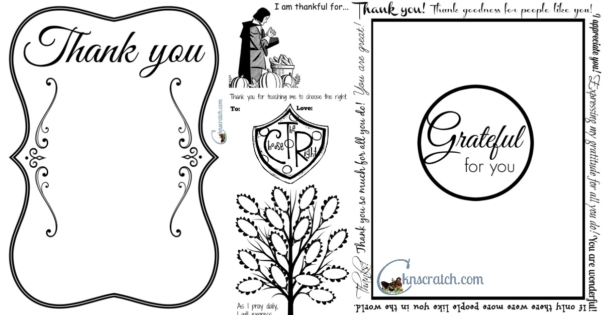 Several great thankful printables!