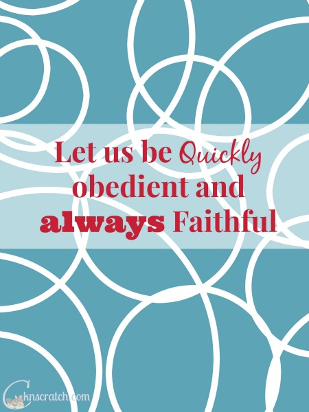 Joseph, the husband of Mary teaches us to quickly obey always