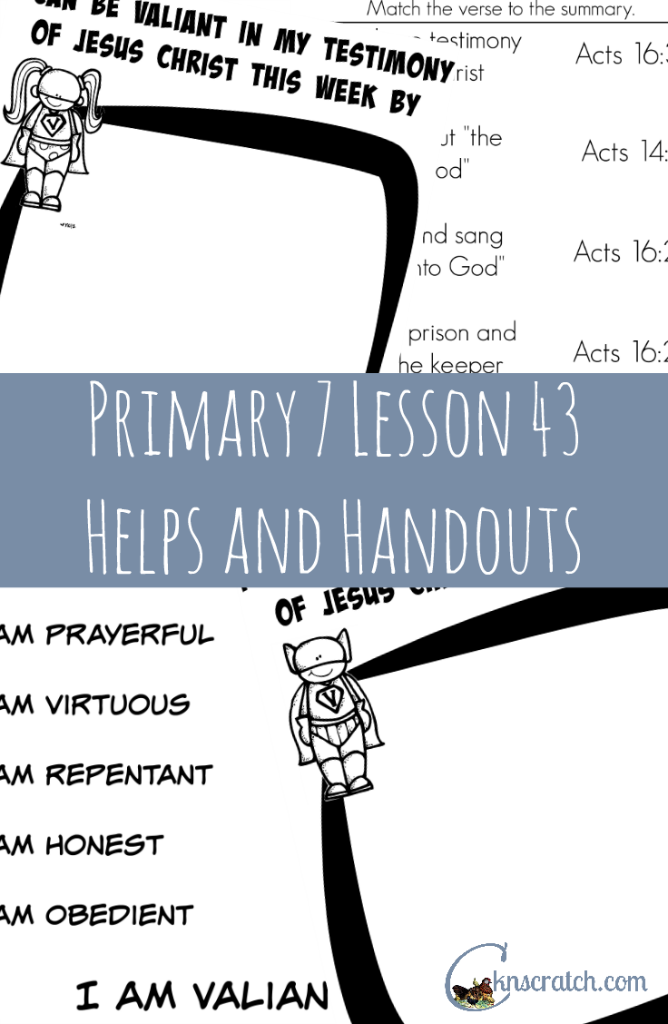 Love this LDS site! Lesson helps and handouts for Primary 7 Lesson 43: Paul Testifies of Jesus Christ