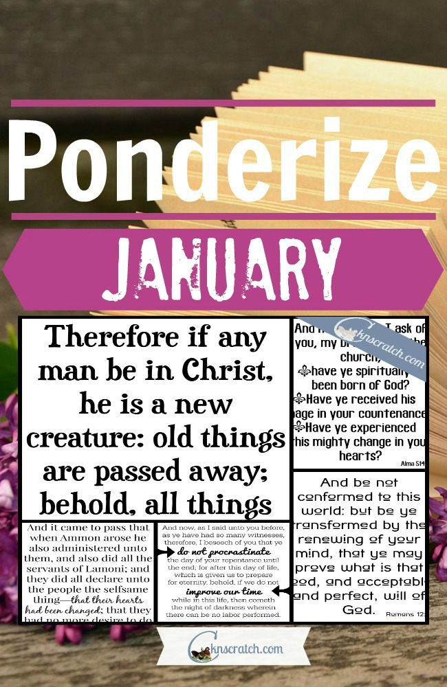 5 great scripture posters to use to ponderize in January