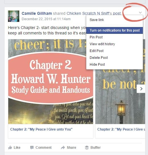 Easy way to get notifications on facebook posts