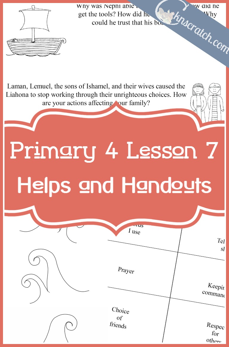 Seriously love this site. LDS lesson helps and handouts for Primary 4 Lesson 7: Crossing the Sea