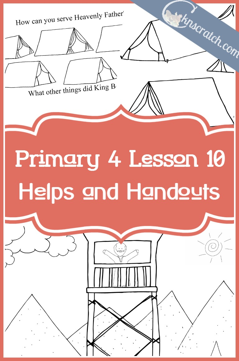Such a great site! Excellent LDS lesson helps and handouts for Primary 4 Lesson 10: King Benjamin Teaches His People