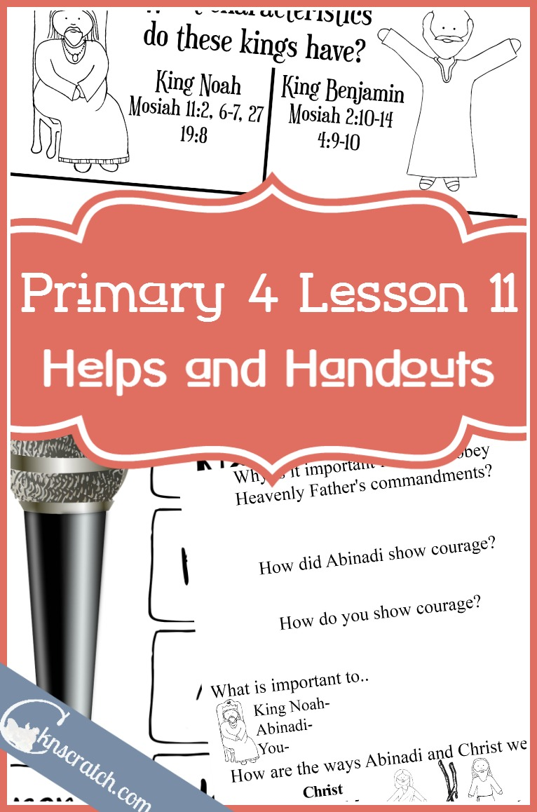 Great LDS lesson helps for Primary 4 Lesson 11: Abinadi and King Noah