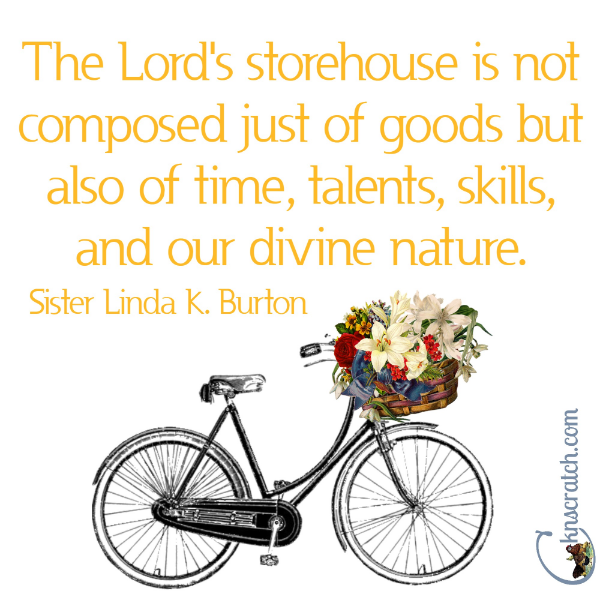 What's are you putting in the storehouse? Great quotes from LDS Women's Conference 2016 April