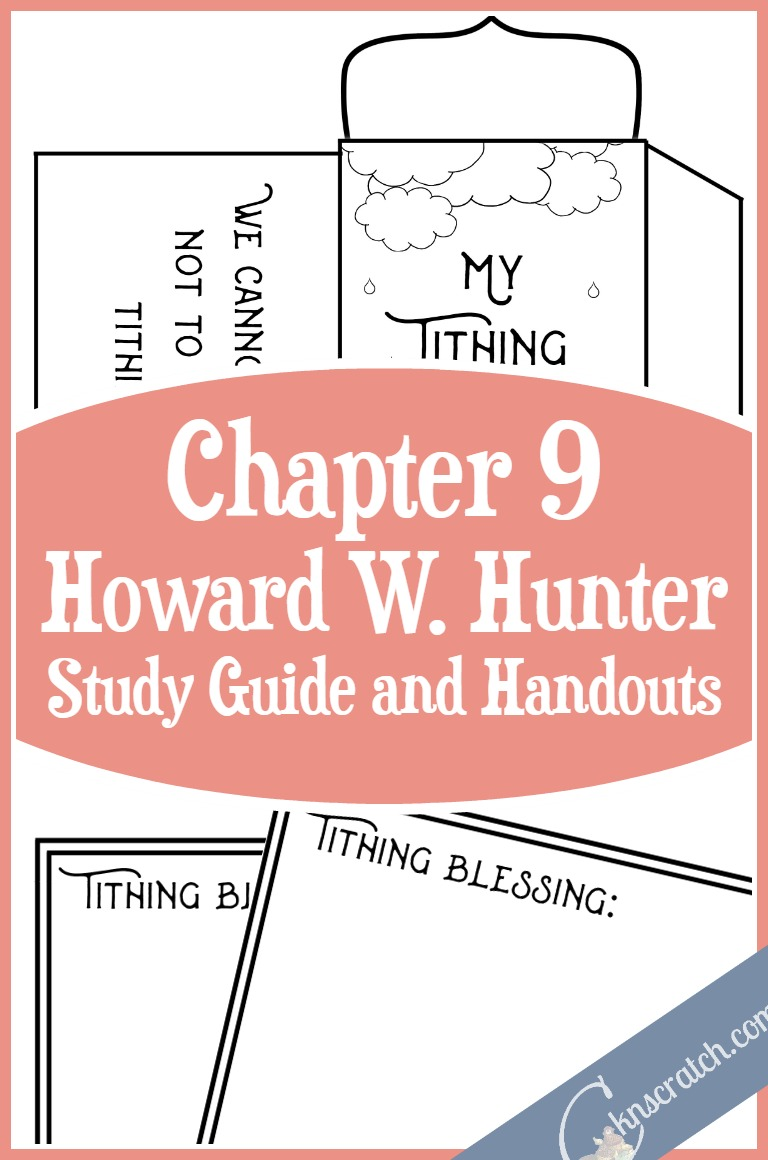 Oh how I love this site. LDS study guide and handouts for teaching Howard W. Hunter Chapter 9: The Law of Tithing- love the tithing blessing envelope