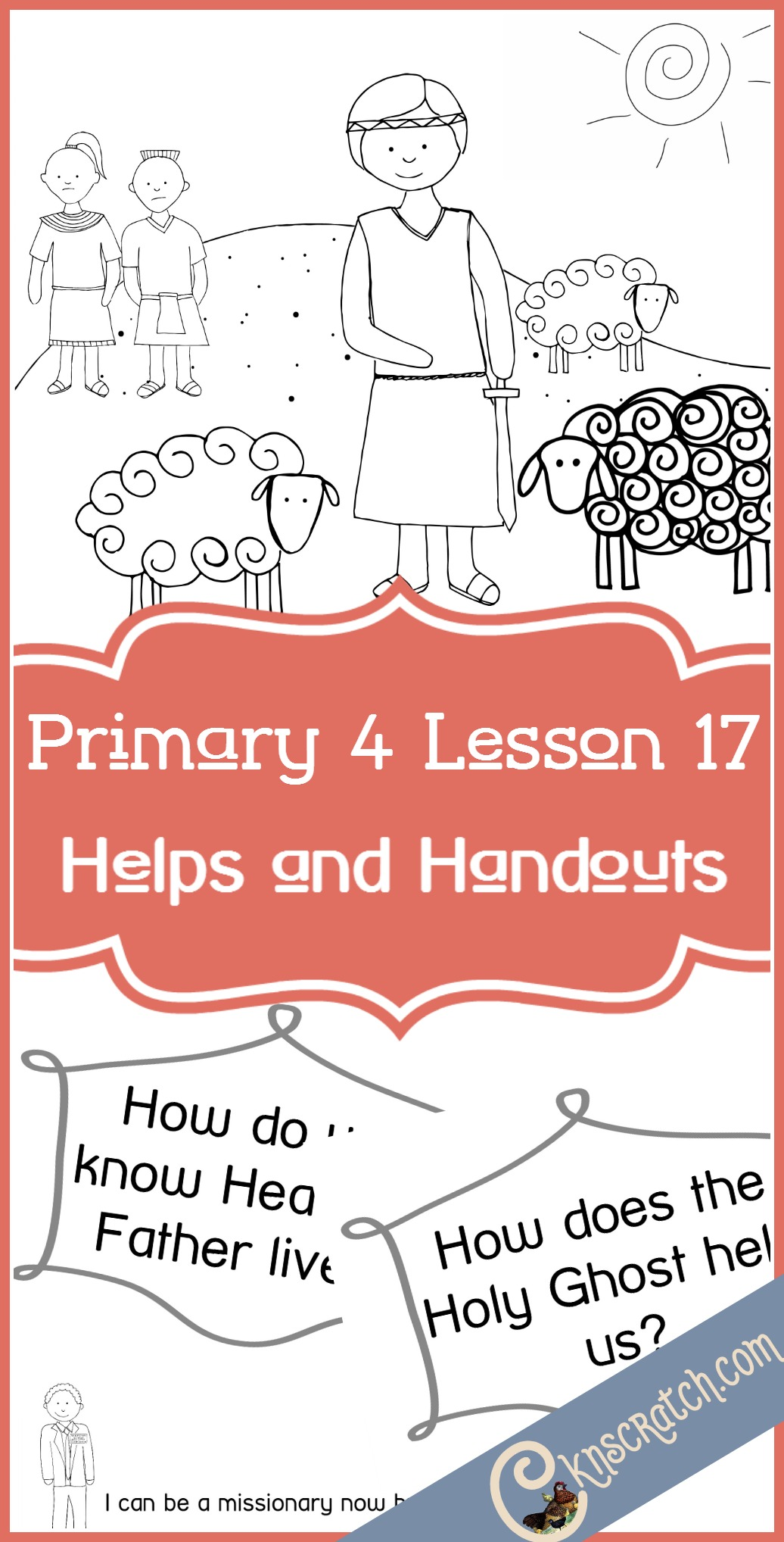 Awesome LDS handouts and helps for Primary 4 Lesson 17: Ammon, a great servant