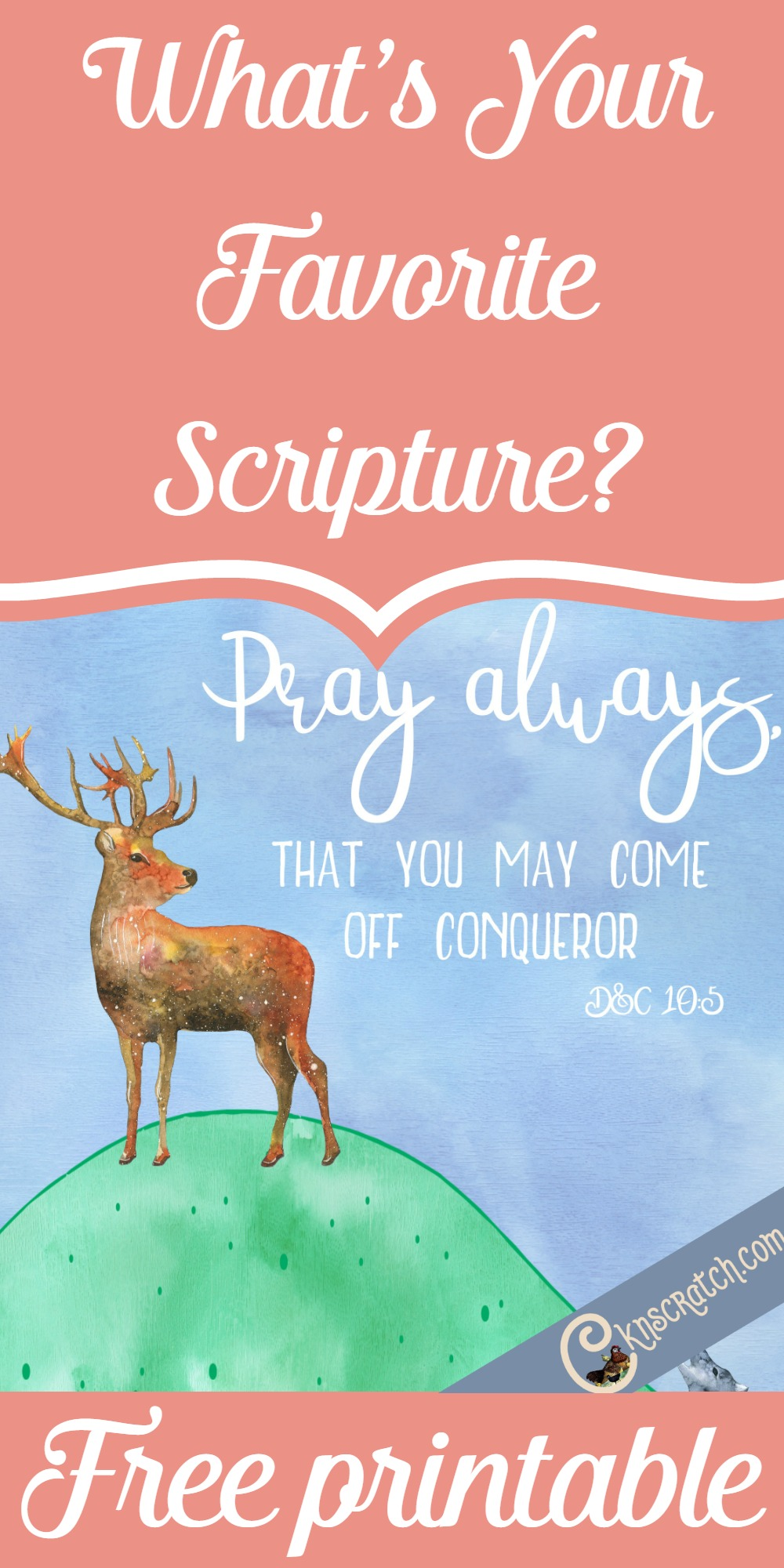 How pretty is this free scripture printable? Love it! D&C 10:5