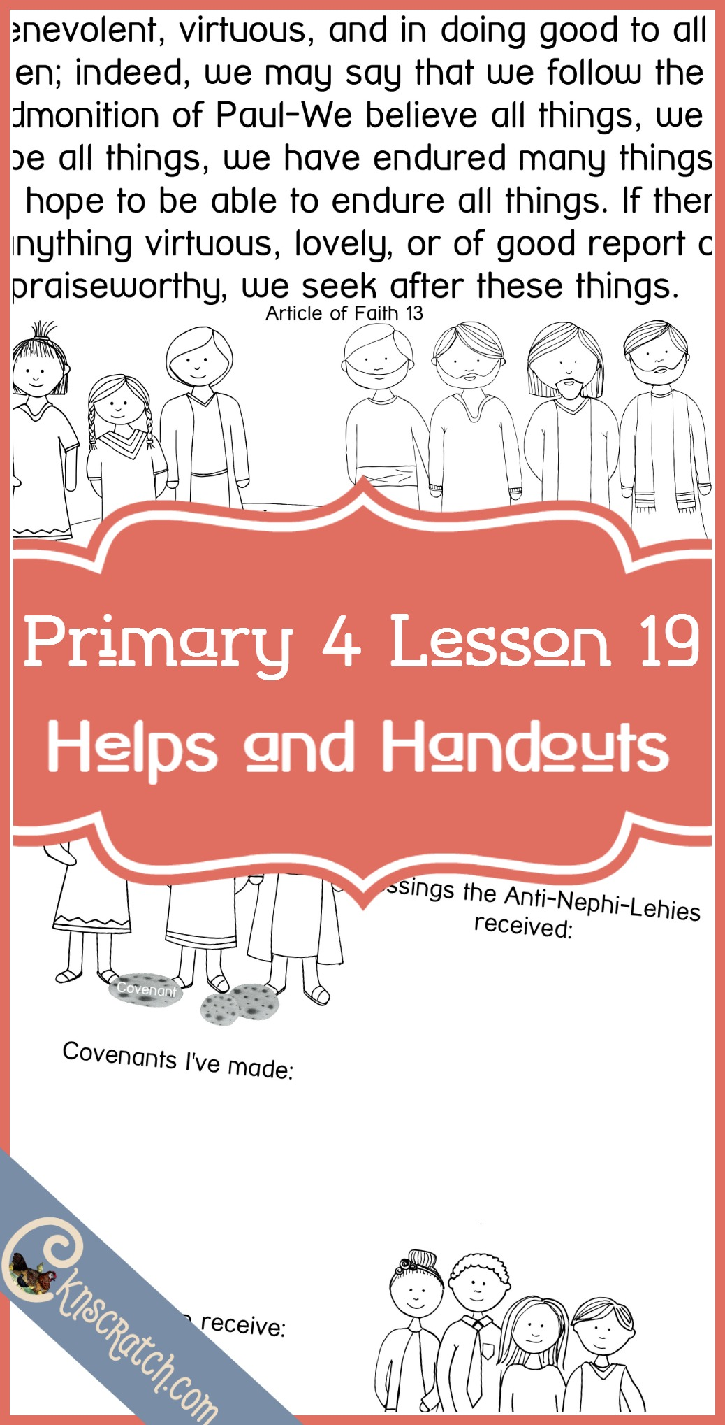 Great LDS lesson helps and handouts for Primary 4 Lesson 19: The Anti-Nephi-Lehies