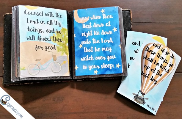 How fun is this? Mini scripture booklet for Alma 37:37- she has other scripture cards you could add to this too