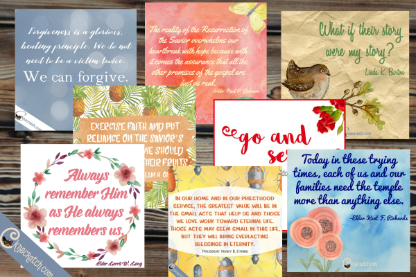 Love this collection of April 2016 General Conference Quotes- great for a flipbook or FHE